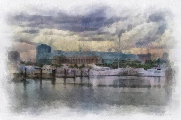 Doona Mixed Media - Before The Storm Chicago Soldier Field Pa 01 by Thomas Woolworth