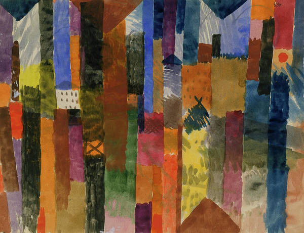 Painting - Before The Town By Paul Klee 1915 by Paul Klee
