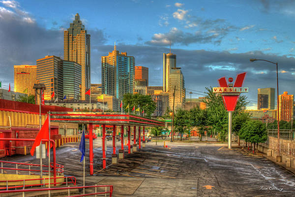Photograph - Before What'll You Have The Varsity Dawn Atlanta Landmark Art by Reid Callaway