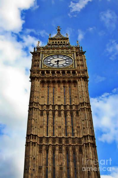 Photograph - Big Ben Stands Tall by Digital Art Cafe
