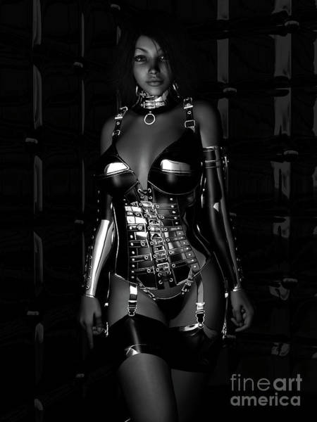 Babe Digital Art - Beg For Mercy Bw by Alexander Butler