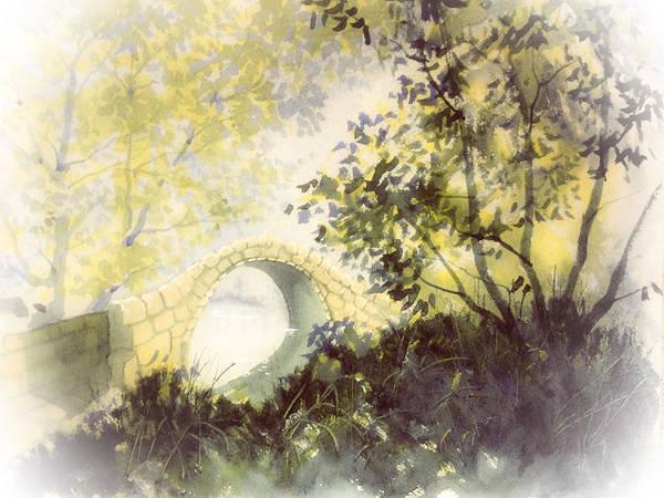 Painting - Beggar's Bridge Vignette by Glenn Marshall
