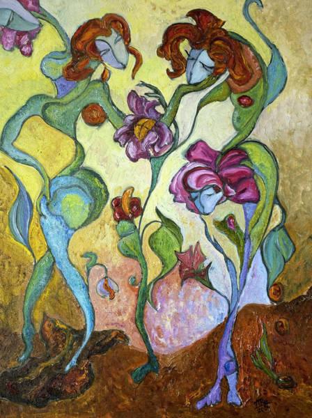 Painting - Beginning by Mila Ryk