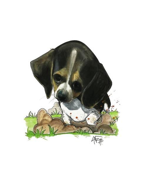 Pet Portrait Drawing - Begley 3204 by John LaFree