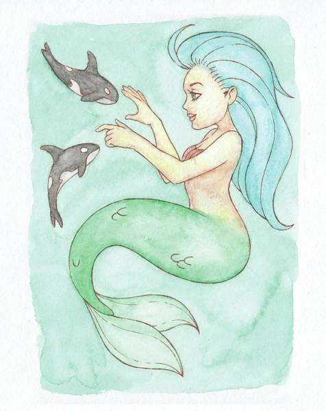 Inking Painting - Behemoth Mermaid - Mermay 2018 by Armando Elizondo