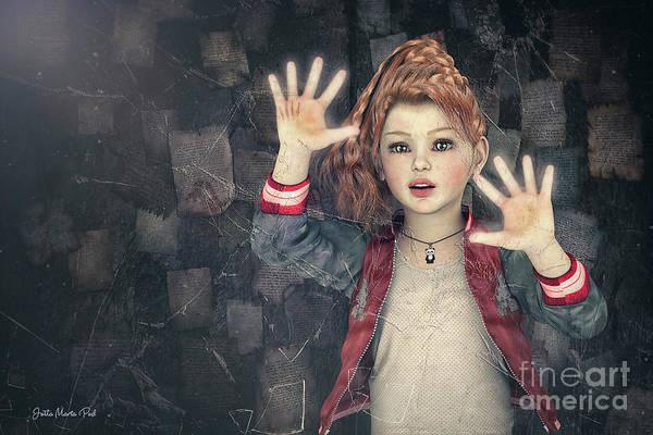 Fragment Digital Art - Behind Broken Glass by Jutta Maria Pusl