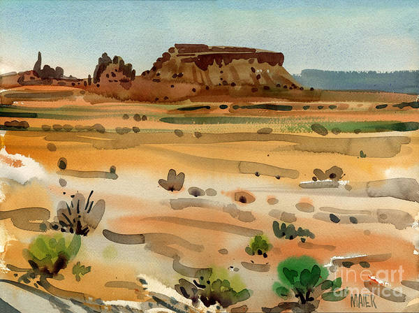 Butte Painting - Behind Shiprock by Donald Maier