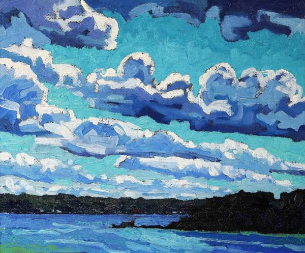 Stratocumulus Painting - Behind The Cool Front by Phil Chadwick
