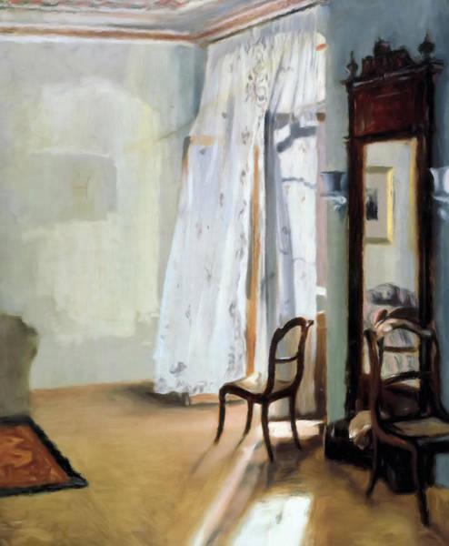 Mixed Media - Behind The Curtain by Isabella Howard