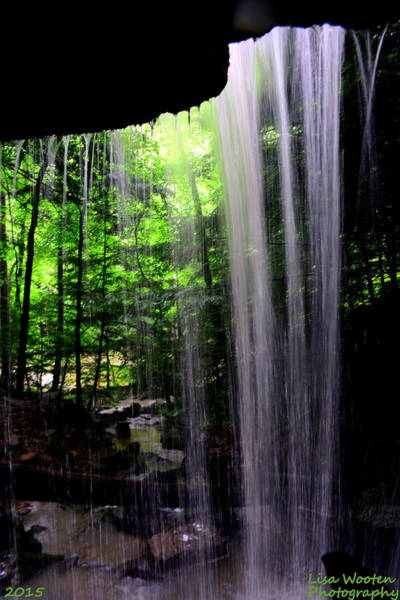 Photograph - Behind The Falls by Lisa Wooten