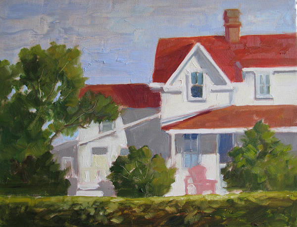 Painting - Behind The Hedge by Sharon Lehman