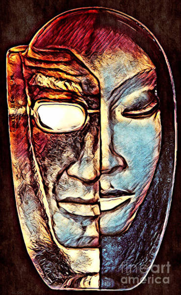 Mixed Media - Behind The Mask by Lita Kelley