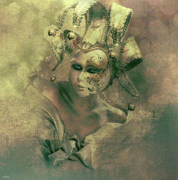 Joyous Mixed Media - Behind The Masquerade by G Berry