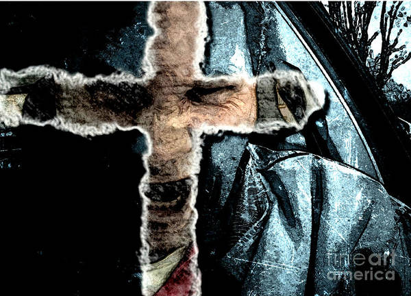 Mixed Media - Behind The Thin Veil Of The Cross by Reed Novotny