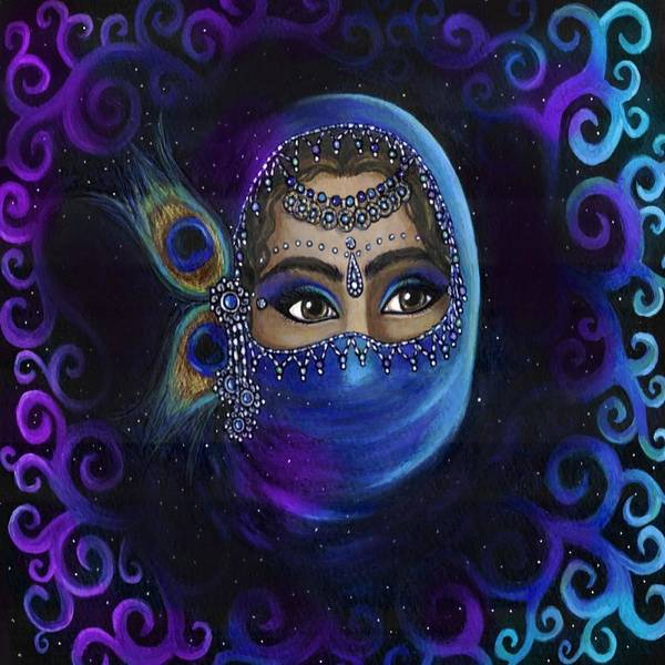 Belly Dancing Painting - Behind The Veil by Heather  Marie
