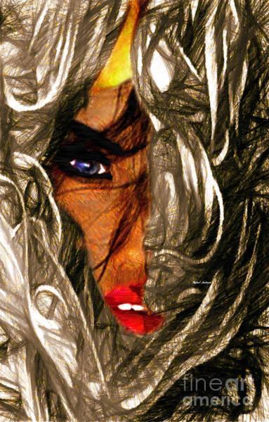 Digital Art - Behind The Veil by Rafael Salazar