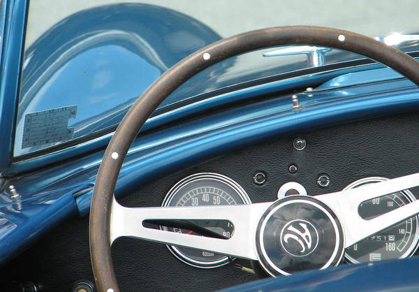 Ac Cobra Wall Art - Photograph - Behind The Wheel by Kelly Mezzapelle