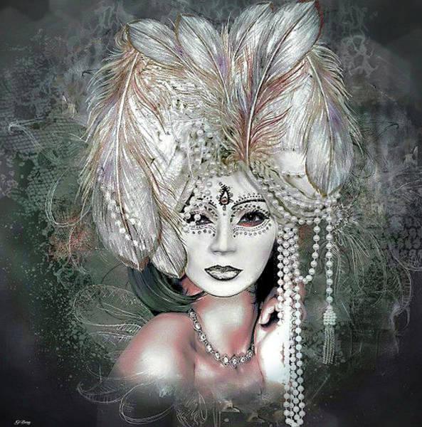 Joyous Mixed Media - Behind This Masquerade 02 by G Berry