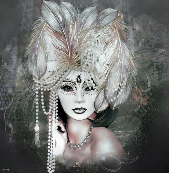 Joyous Mixed Media - Behind This Masquerade by G Berry