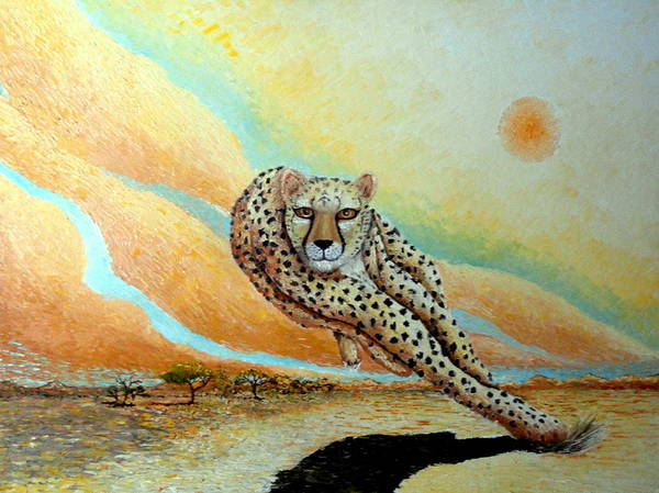 Painting - Behold The Cheetah by Santiago Chavez