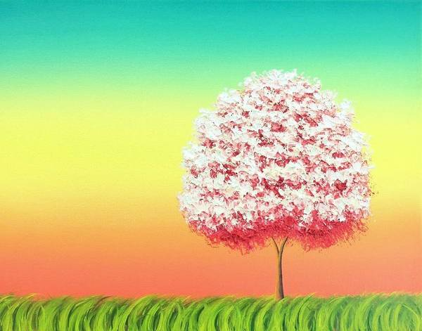 Blooming Tree Painting - Beholden To The Skies by Rachel Bingaman