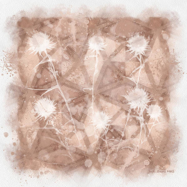 Digital Art - Beige Wildflowers by Judi Suni Hall