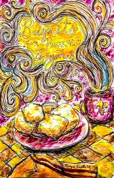 Mixed Media - Beignets For Breakfast by Monique Faella