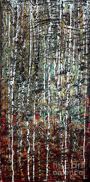 Wall Art - Painting - Being In Birch  by Nancy TeWinkel Lauren