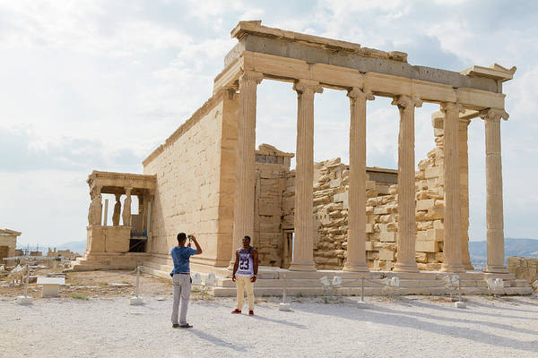 Wall Art - Photograph - Being Photographed At The Acropolis by Iordanis Pallikaras