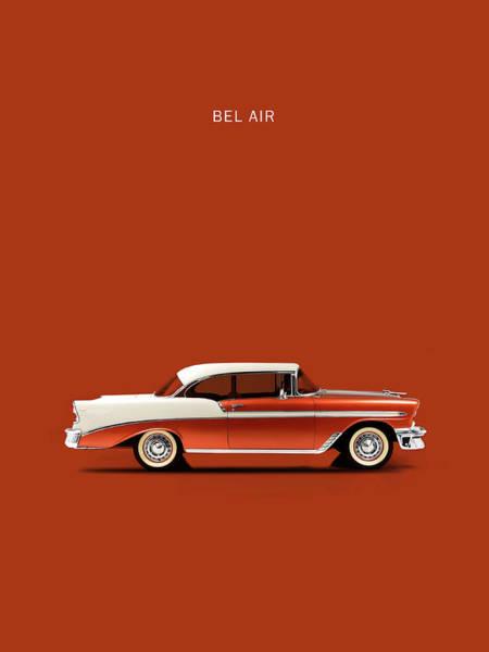 Chevy Bel Air Photograph - Bel Air 56 by Mark Rogan