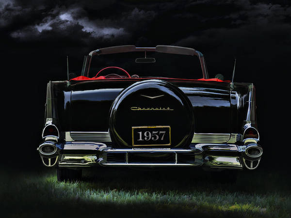 Chevrolet Digital Art - Bel Air Nights by Douglas Pittman