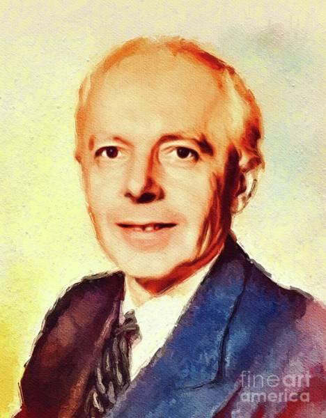 Wall Art - Painting - Bela Bartok, Famous Composer by John Springfield