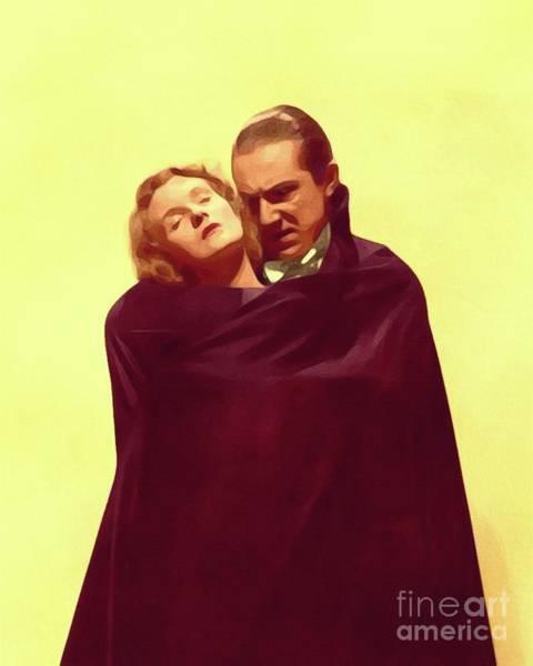 Wall Art - Painting - Bela Lugosi And Helen Chandler, Dracula by John Springfield