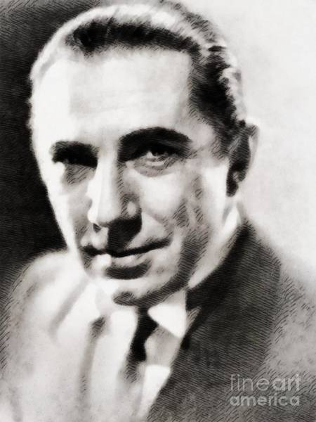 Wall Art - Painting - Bela Lugosi, Hollywood Legend by John Springfield