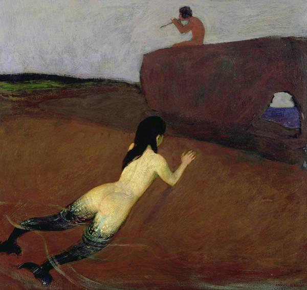 Seductive Painting - Belanschung by Franz von Stuck