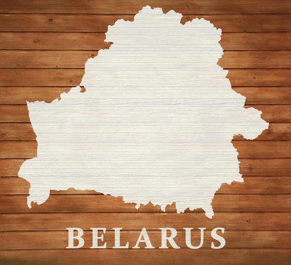 Traveler Mixed Media - Belarus Rustic Map On Wood by Dan Sproul