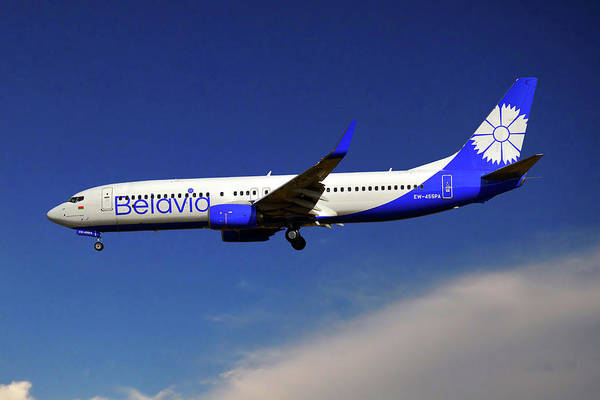 Wall Art - Photograph - Belavia Boeing 737-8zm by Smart Aviation
