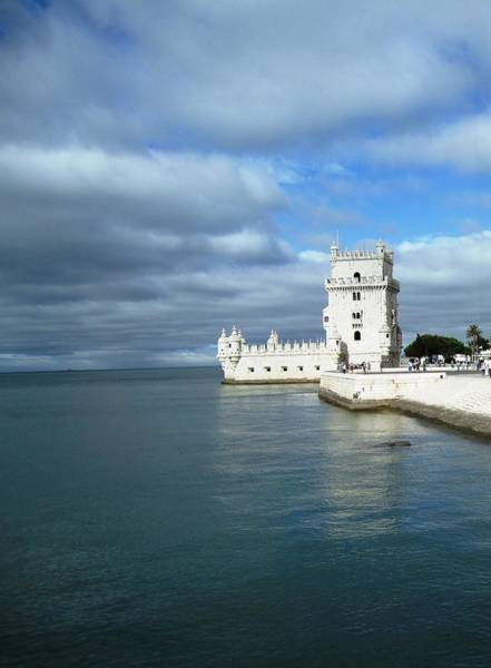 Photograph - Belem Tower Castle Reflection Lisbon Portugal by John Shiron