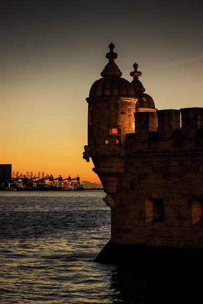 Wall Art - Photograph - Belem Tower Sunset by Carlos Caetano