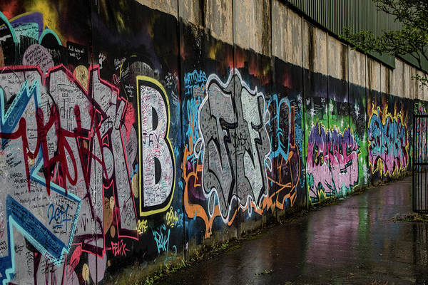 Photograph - Belfast Peace Wall 2 by Teresa Wilson