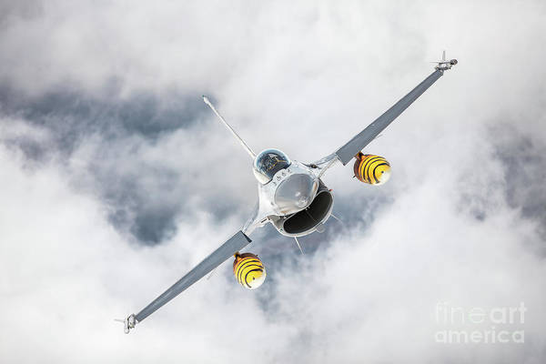 Aerial Combat Photograph - Belgian F-16 Falcon 2 by Rastislav Margus