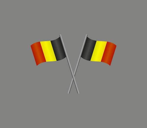 Illustration Digital Art - Belgium Flag by Marco Livolsi