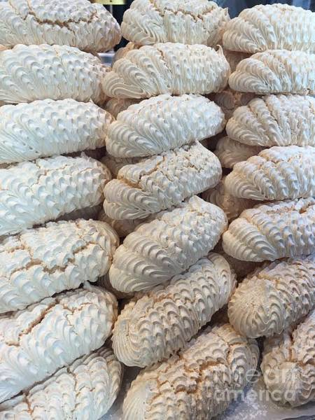 Cookie Wall Art - Photograph - Belgium Meringues by Evan N