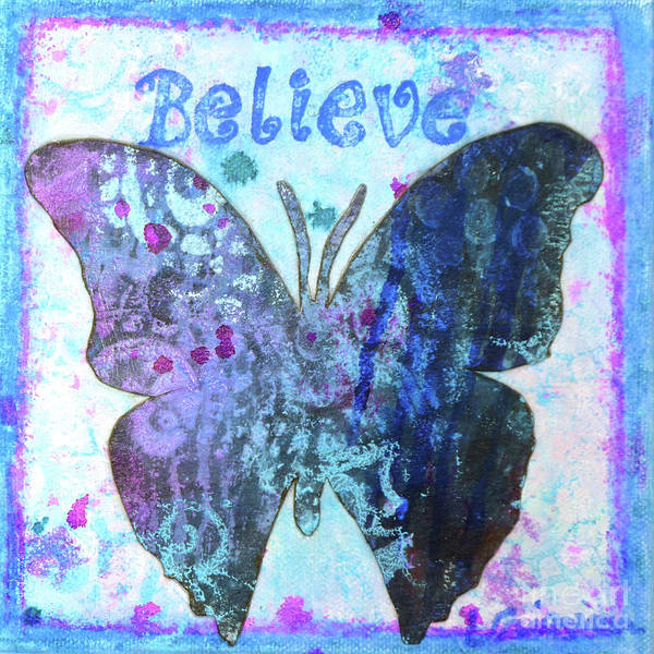Painting - Believe Butterfly by Lisa Crisman