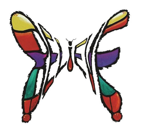 Painting - Believe-butterfly by Sandy Dusek