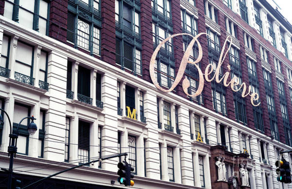 Photograph - Believe In Christmas At Macy's New York City by John Rizzuto