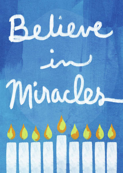 Wall Art - Mixed Media - Believe In Miracles- Hanukkah Art By Linda Woods by Linda Woods