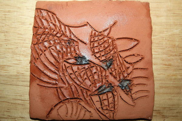 Ceramic Art - Belinda And Carl - Tile by Gloria Ssali
