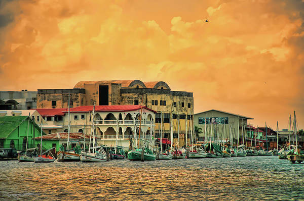 Belize City Harbor Art Print