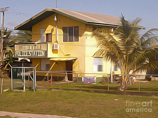 Belize Digital Art - Belize - Hattieville Police Station by Jason Freedman